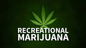 Recreational-marijuana-green-background-with-marijuana-leaf-and-white-lettering